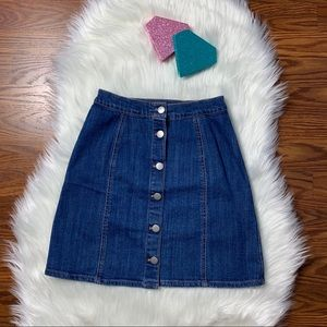 H&M Denim Skirt with Button Detail